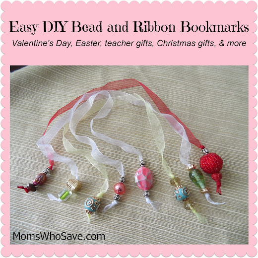 Easy DIY Bead and Ribbon Bookmarks -- Updated!