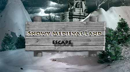 365Escape Snowy Medieval …