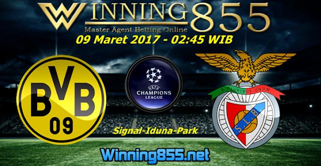 Prediksi Skor Borussia Dortmund vs Benfica 09 Maret 2017