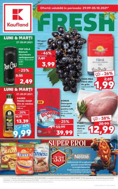 Kaufland Promotii + Catalog - Brosura 29.09 - 05.10 2021