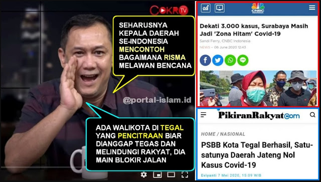 Denny Siregar Sanjung Risma dan Bully Walikota Tegal, Ternyata Hasilnya Kebalik, Siapa Mau Ikutan Dungu?