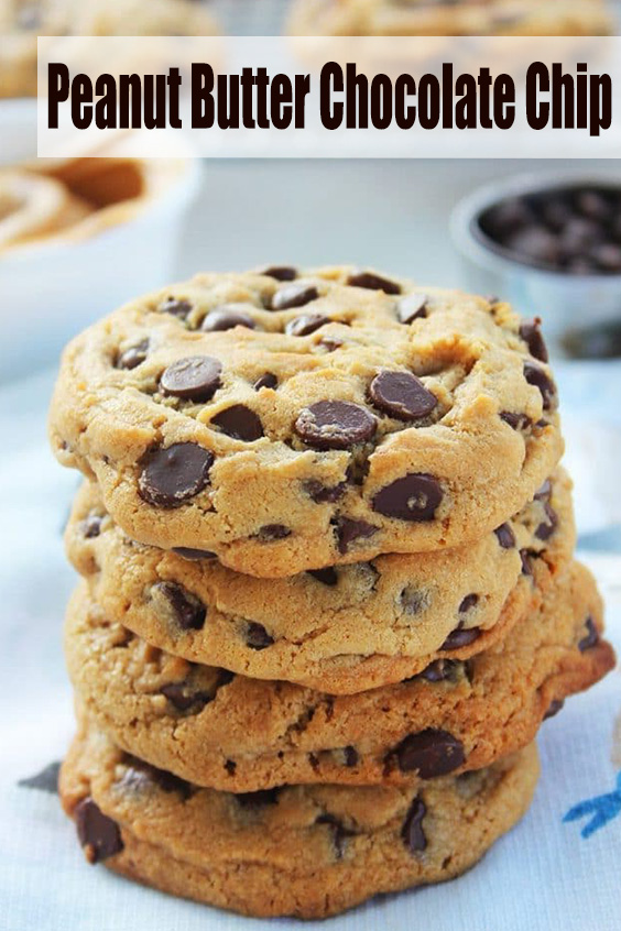 Thick & Chewy Peanut Butter Chocolate Chip Cookies