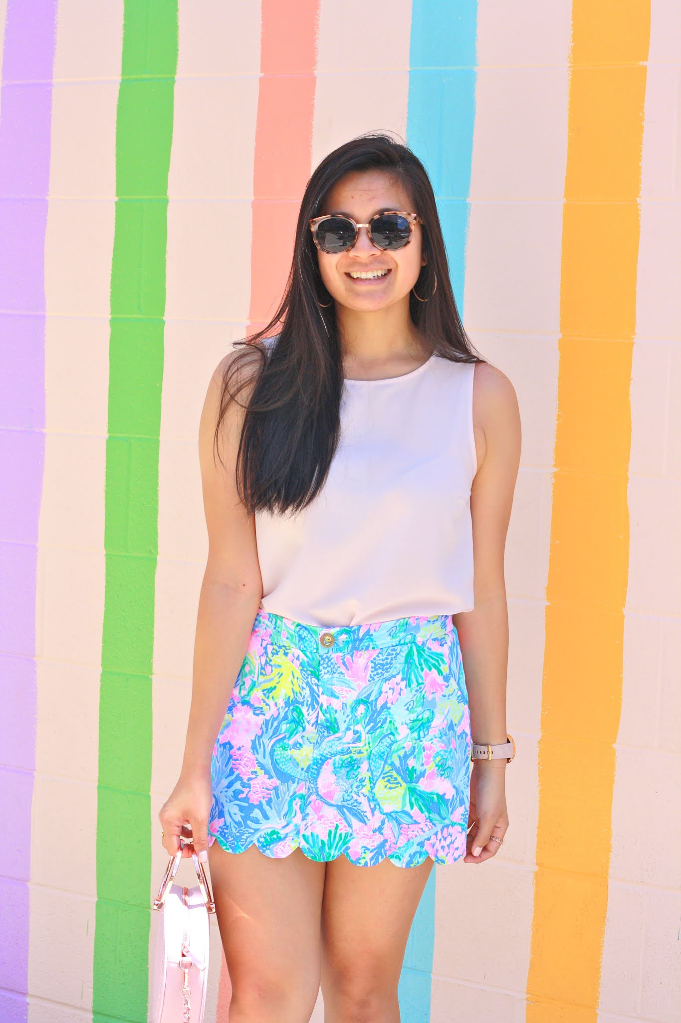 Lilly Pulitzer Colette Scalloped Hem Skort
