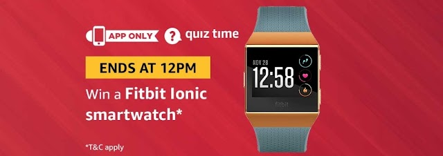 Amazon 2nd April Quiz Answers – Win Fitbit Ionic Smartwatch