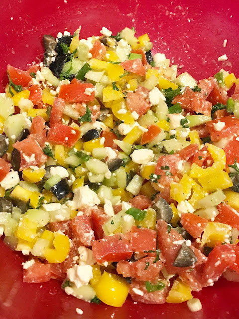 middle eastern chopped salad recipe
