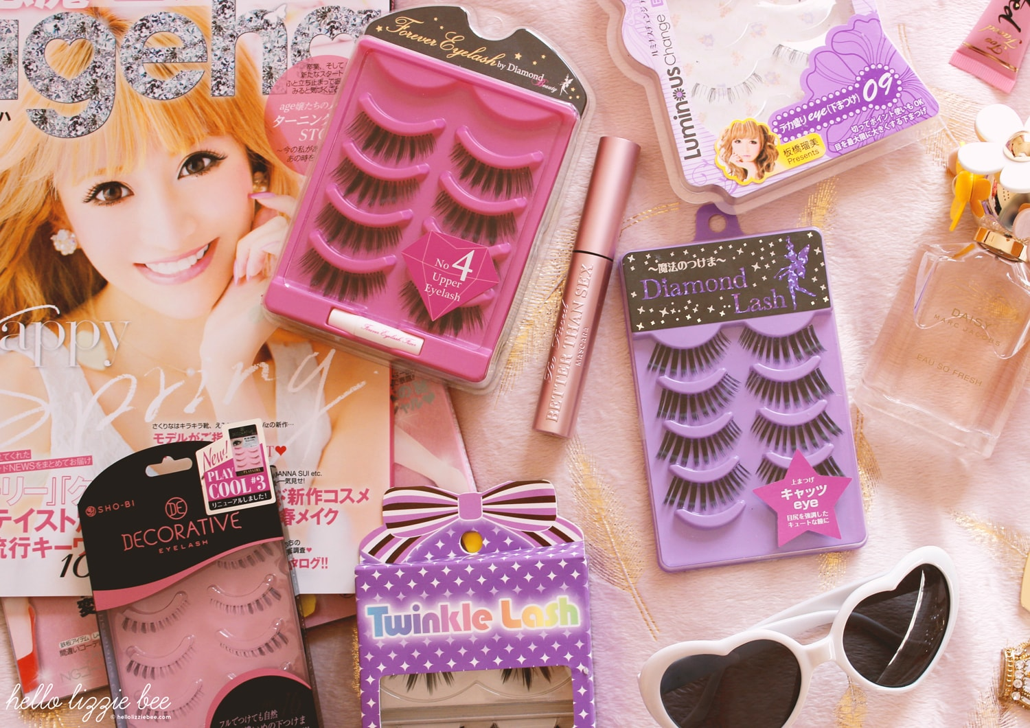 gyaru false lashes, lashes collection, gaijin gyaru