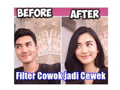 Begini Cara Buat Filter Cowok jadi Cewek, yang Viral