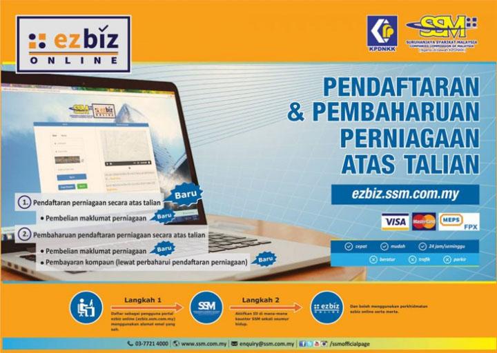 Daftar perniagaan secara online