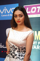 Actress Pooja Salvi Stills in White Dress at SIIMA Short Film Awards 2017 .COM 0069.JPG