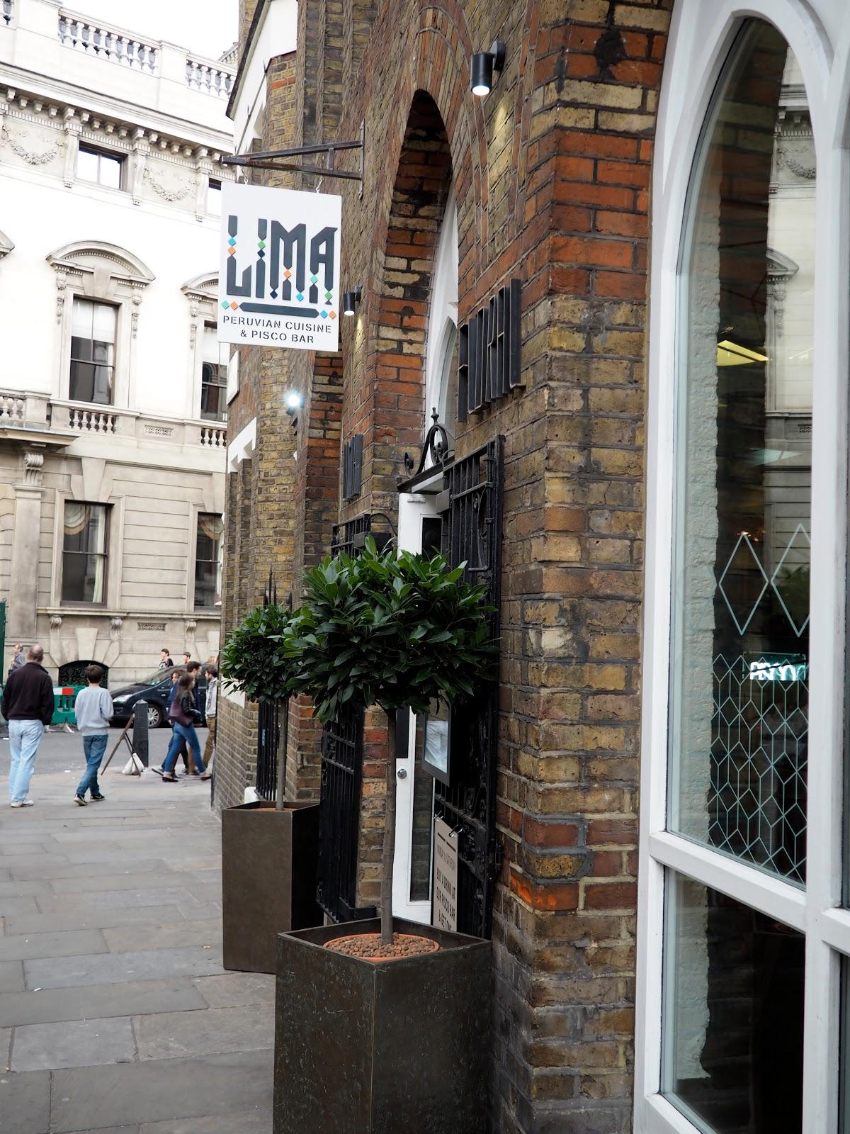 LIMA Floral Peruvian Restaurant London Lunch