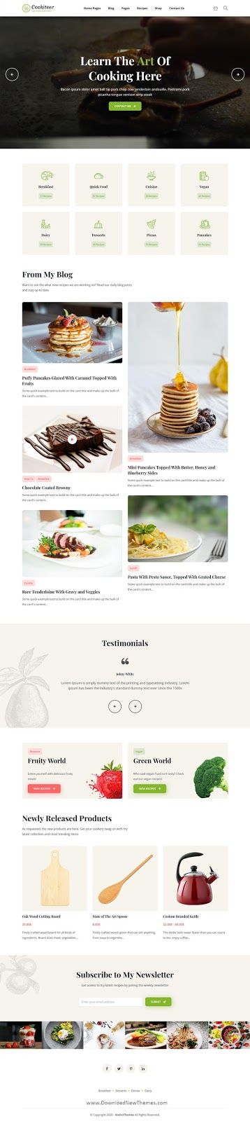 Food & Recipe Blog Template