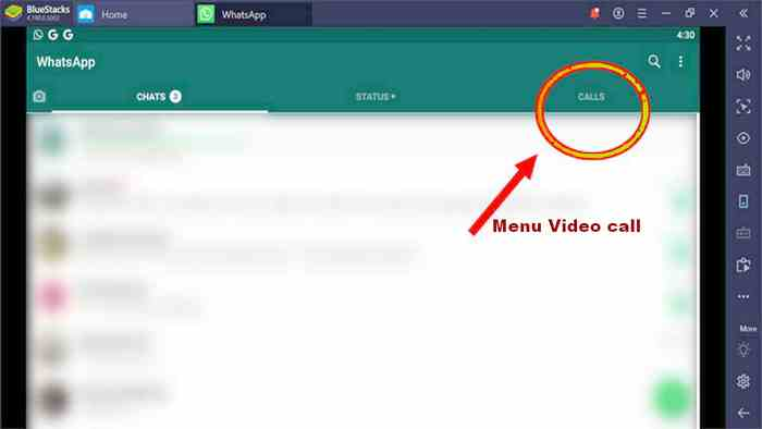 letak menu video call WA di komputer