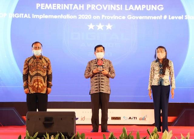Pemerintah Provinsi Lampung Raih Top Digital Award 2020, Bidang Implementasi dan Pemanfaatan Teknologi Digital