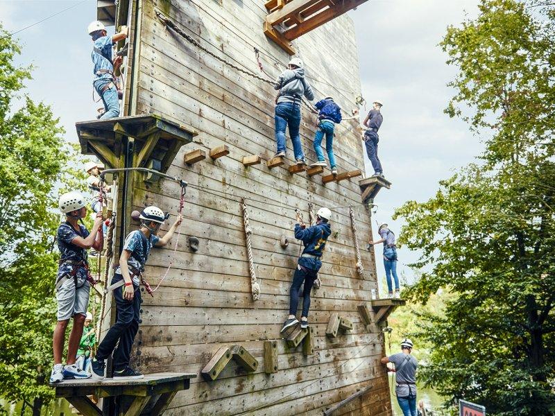 Choosing the Best Center Parcs Holiday in the Netherlands  - De Eemhof climbing wall