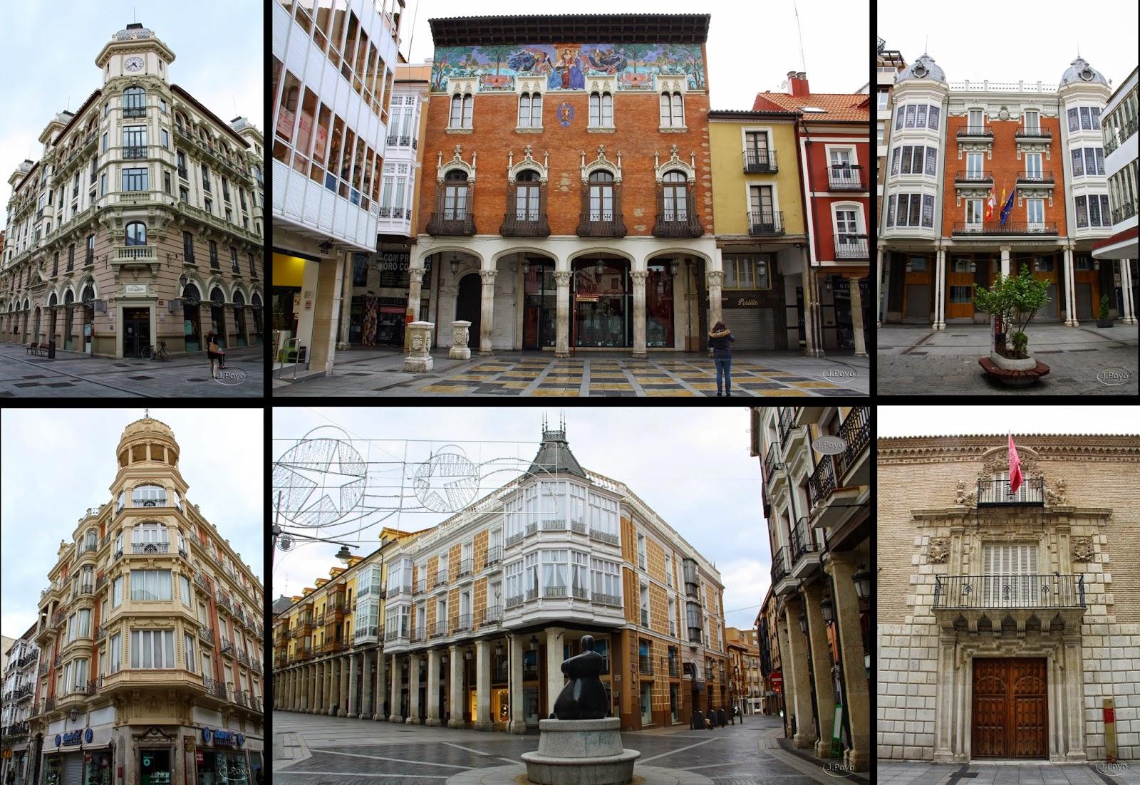 Edificios de la Calle Mayor de Palencia