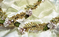 wedding crowns with flowers