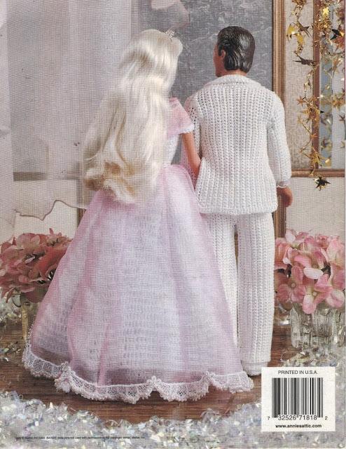 Roupa de Festa de Crochê Para Barbie e Para Ken 4