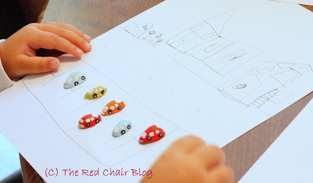Kid craft painted pistachio shell cars from The Red Chair Blog
