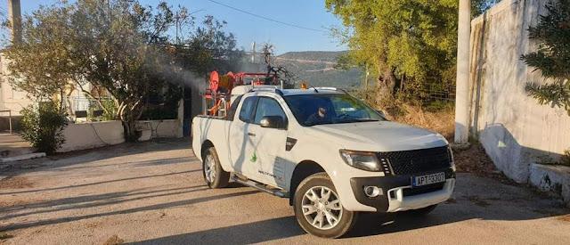 Συνεχείς οι απολυμάνσεις κατά του κορωνοϊού σε όλες τις Κοινότητες του Δήμου Ερμιονίδας