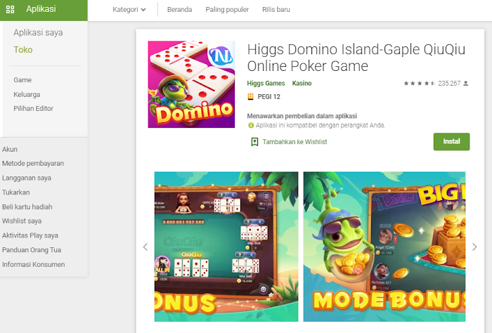 Higgs Domino Island-Gaple QiuQiu Online Poker Game