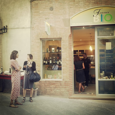 Wine tasting at Montalcino's first organic wine store