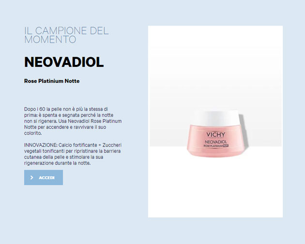 Vichy Neovadiol Rose Platinium Notte: campioni gratis