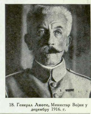 General Lyautey, Minister of War in December 1916.
