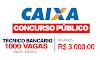 EDITAL Caixa 2021: Sai concurso com 1.000 vagas de nível médio com Salários R$ 3.000,00
