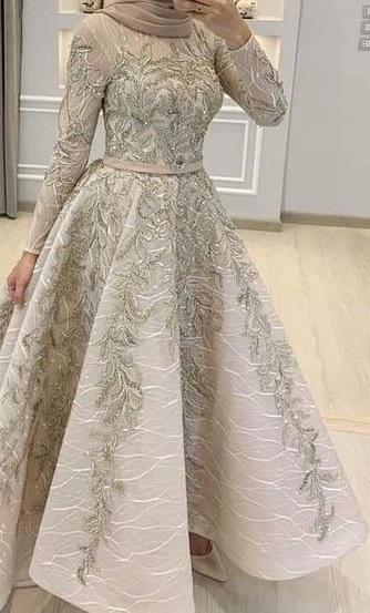 أحدث فساتين السوارية والسهــرة للمحجبات لعام 2020-فستان سوارية للمحجبات