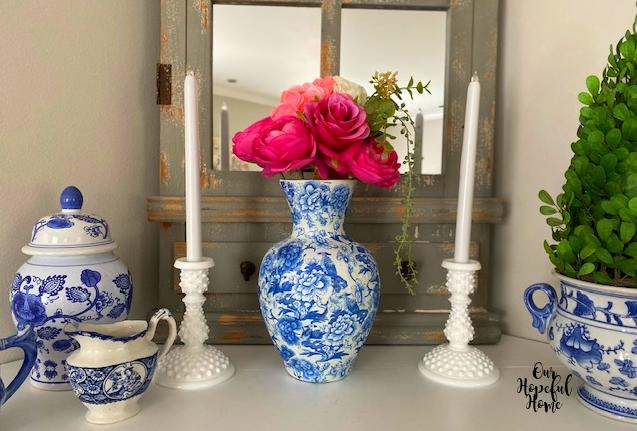 chinoiserie ginger jar vase creamer
