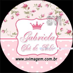 rosa floral com coraçõa coroa reino menina