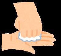 石鹸で手を洗う順番のイラスト(指先・爪の間)