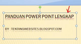 Cara membuat efek animasi tulisan pada power point