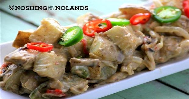 Spicy Coconut Adobo Roast Potatoes