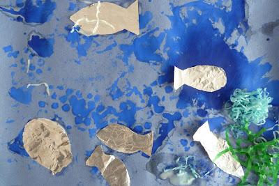 bubblewrap print aquarium craft