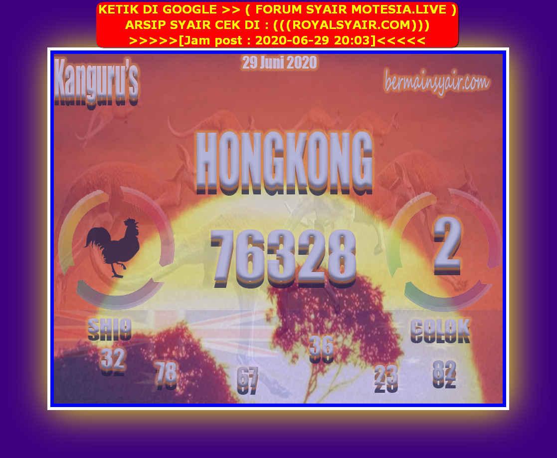 Kode syair Hongkong Senin 29 Juni 2020 129
