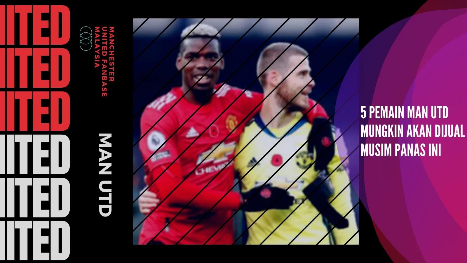 Lima Pemain Man United Mungkin akan Dijual Musim Panas Ini
