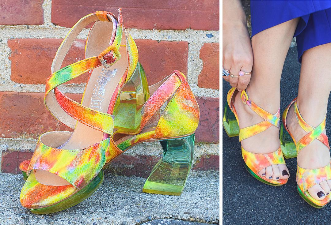 Plexiglas Absatz, Schuhe mit Plexiglas Absatz