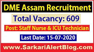 http://www.sarkarialertblog.com/2020/06/dme-assam-recruitment-2020.html