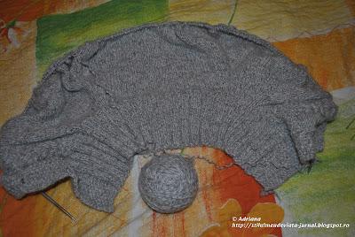 jerseu tricotat, tehnica raglan