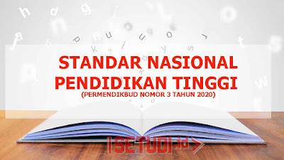 Standar Nasional Pendidikan Tinggi Berdasarkan Permendikbud Nomor 3 Tahun 2020