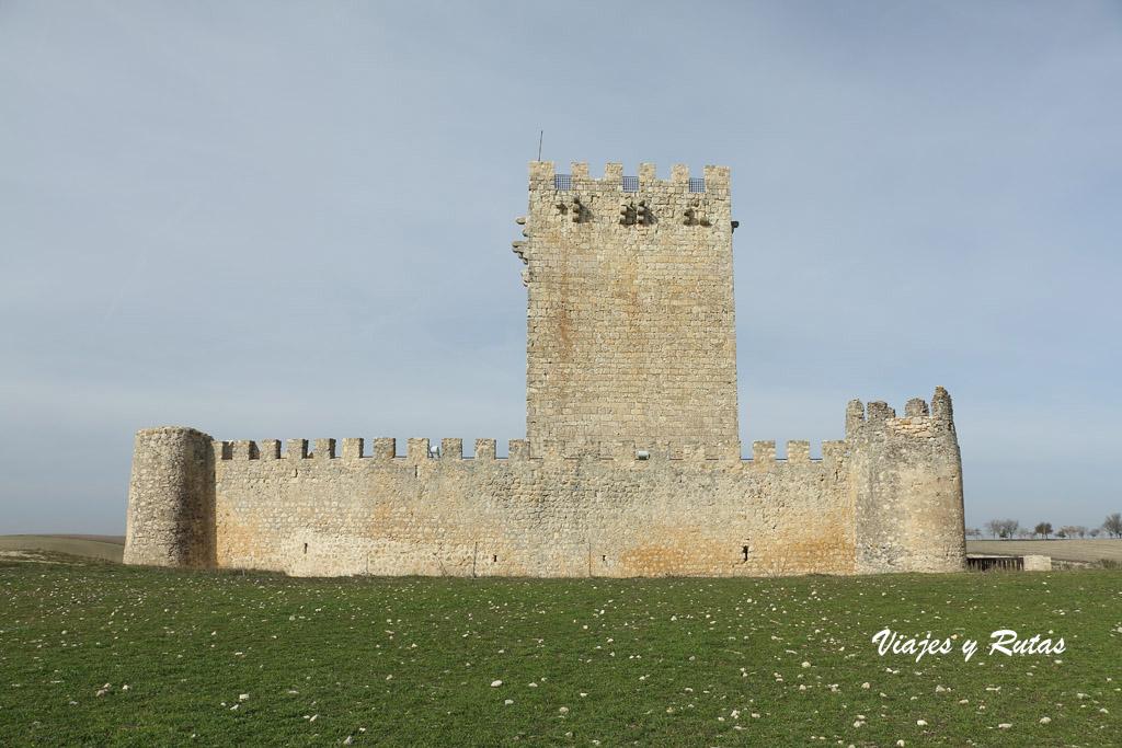Castillo de Tiedra por detrás, Valladolid