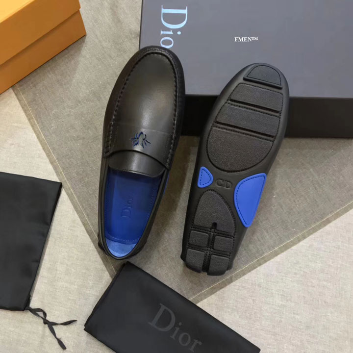 Giày lười Dior nam đế bệt siêu cấp GNDI-878
