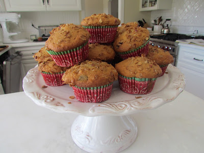 banana muffin recipe delicious snack on cake plate