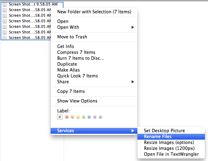 Manny's (mostly Apple) Tech Support: Batch Rename Files [Mac OS X]