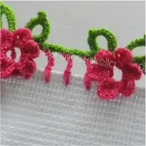 Puntilla Flor a Crochet