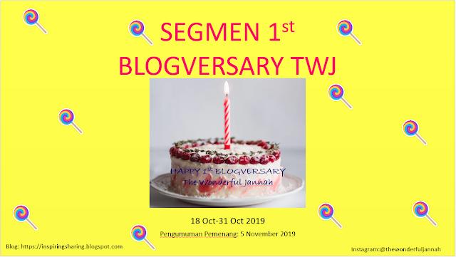 Segmen 1st Blogversary TWJ (31 Oktober 2019)