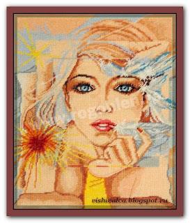 "Download embroidery scheme Rogoblen 5.14 ""Reflection"""