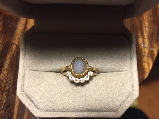 Engagement Ring from Found Smoky Quartz