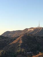 Vista del cartel de Hollywood desde el observatorio Griffith